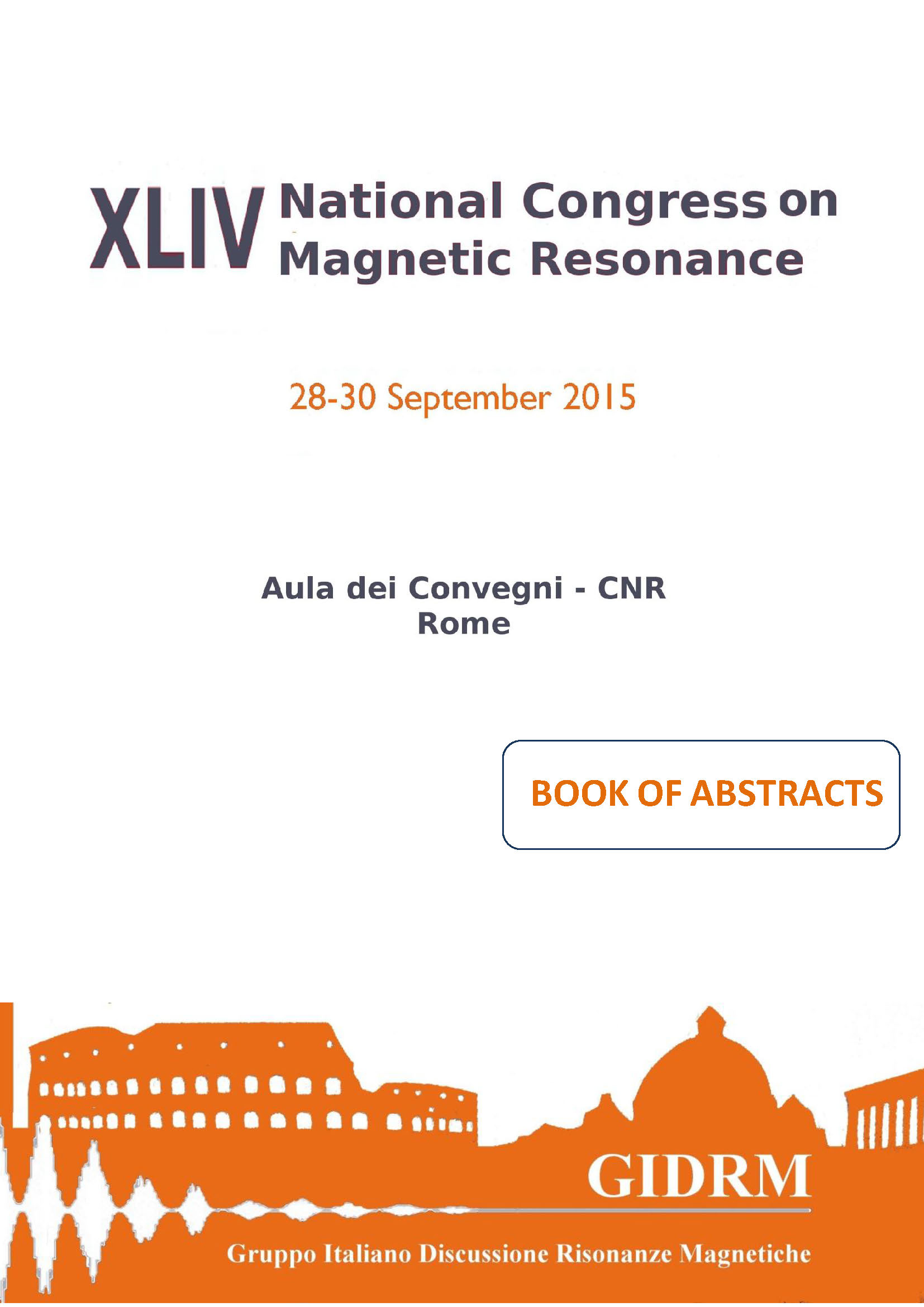 Book of Abstracts GIDRM 2015