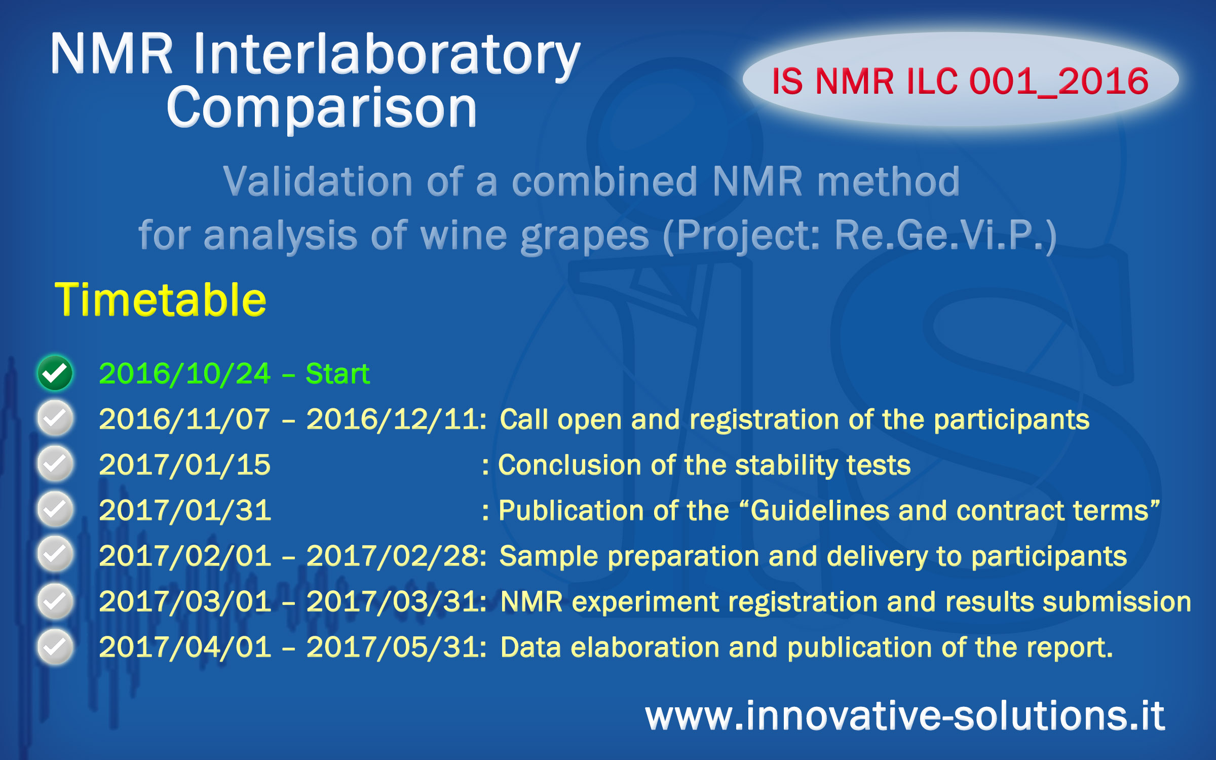 IS NMR ILC 001 2016 Timetable