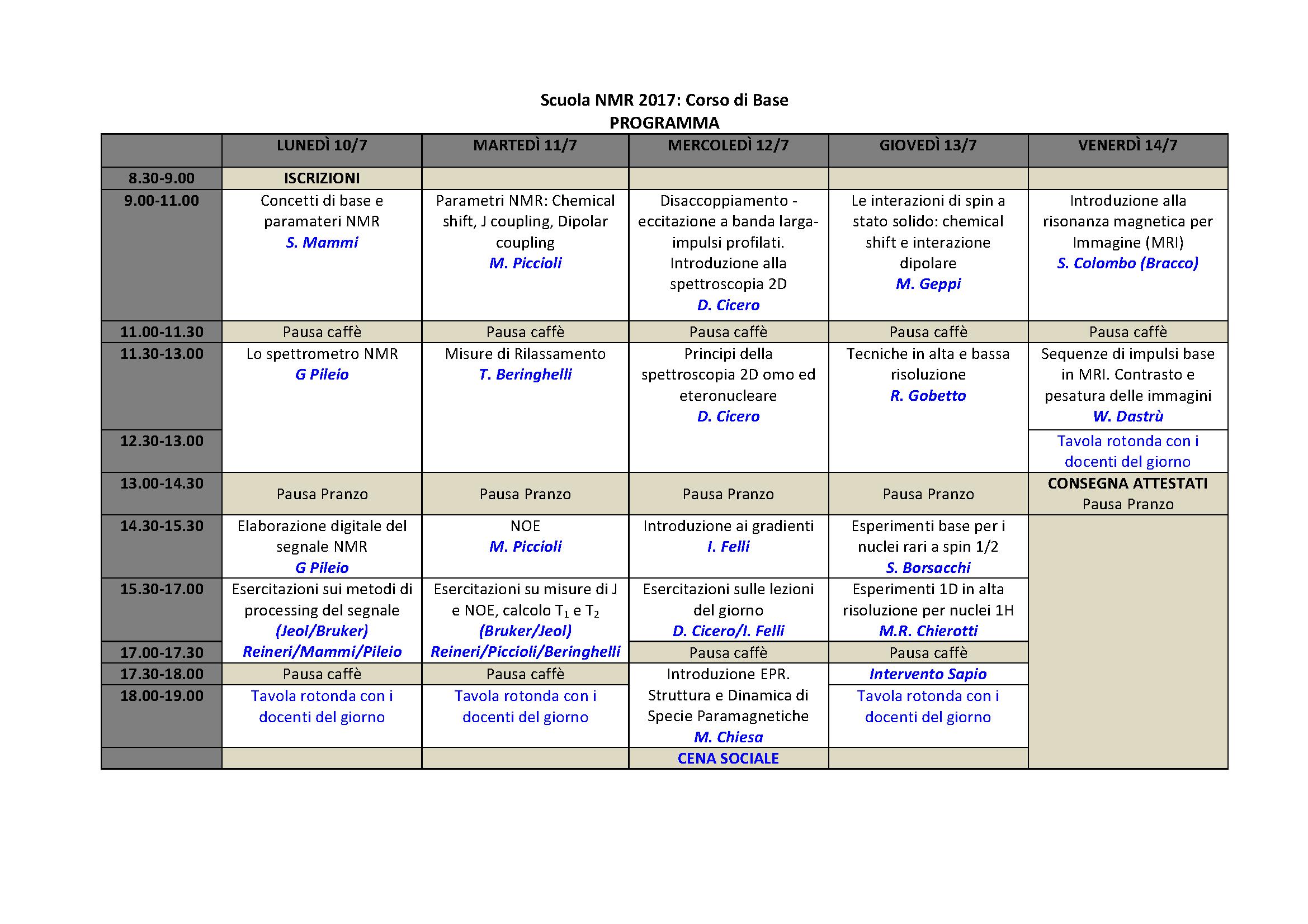 Programma scuola di base 2017